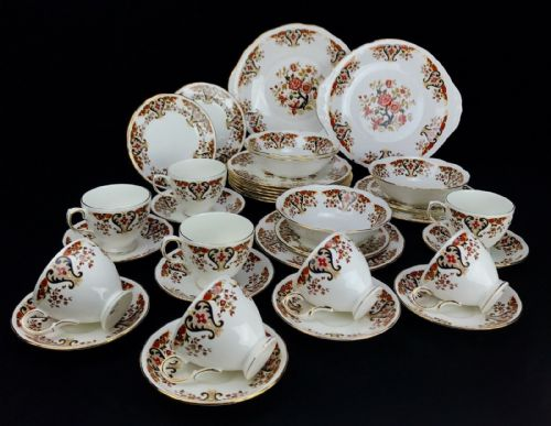 Colclough Royale Tea Set / Dinner Service For 8 People / Tea Cup / Plate / Bowl